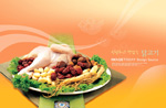 Link toStewed chicken with ginseng raw materials psd