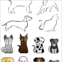 Link toStick figure cartoon dog vector