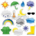 Link toStickers on the weather icon vector