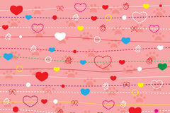 Link toString of hearts vector colorful lines background
