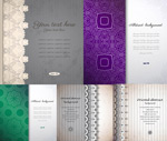 Striped and patterned background vector