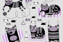 Link toStriped cat 5 cartoon vector