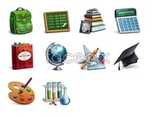 Link toStudy research supplies icons
