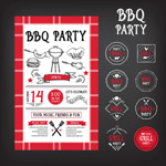 Link toStylish bbq flyer vector