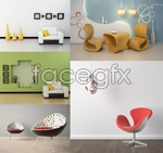 Link toStylish chair pictures psd