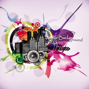 Link toStylish city party vector background 01 free