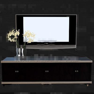 Link toStylish cool black wooden tv cabinet 3d model