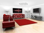 Link toStylish decoration of the living room psd