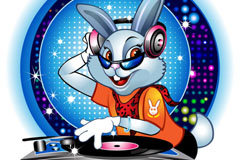 Link toStylish dj rabbit cartoon vector
