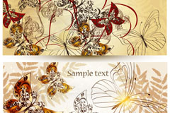 Link toStylish flower butterfly background vector