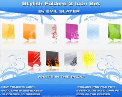 Link toStylish folders 3 icon set