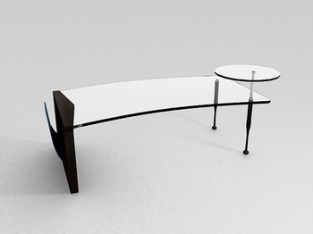 Link toStylish glass coffee table glass coffee table 3d model of high-grade tea