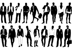 Link toStylish men's silhouettes vector