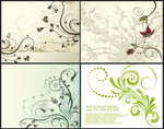Link toStylish patterns and vine vector
