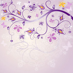 Link toStylish purple pattern vector