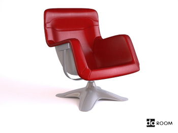 Link toStylish red armrests swivel 3d model
