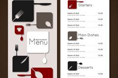 Link toStylish restaurant menu design vector graph