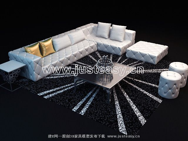 Link toStylish sofa combination of 3d models (including materials)