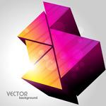 Stylish stereo triangle vector