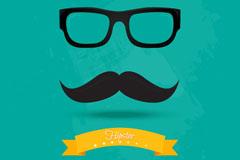 Link toStylish sunglasses whisker background vector