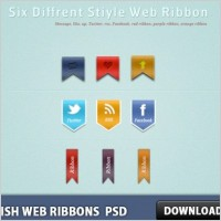 Link toStylish web ribbons free psd