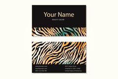 Stylish zebra print business cards designs vectors