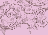 Link toStylized floral pattern vector free