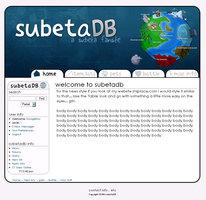 Link toSubetadb.com webdesign entry