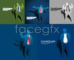 Link toSuccessful people silhouettes vector