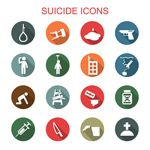 Link toSuicide death icon vector
