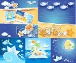 Link toSummer beach background vector