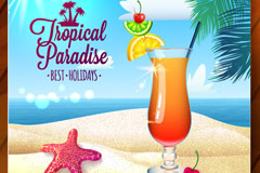 Link toSummer beach cocktails background vector