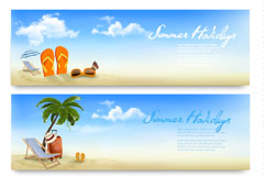 Link toSummer beach holiday banner vector