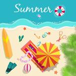 Link toSummer beach illustration vector