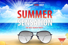 Link toSummer beach party poster vector