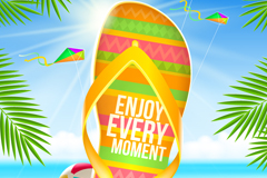 Link toSummer beach shoes background vector
