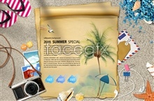 Link toSummer beach supplies psd
