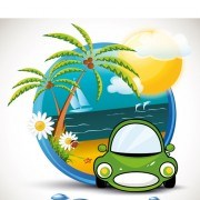 Link toSummer beach travel emblems 02 vector