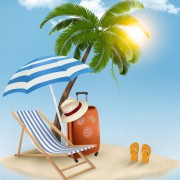 Link toSummer beach vacation background art vector 01 free