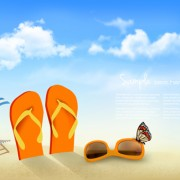 Link toSummer beach vacation background art vector 04 free
