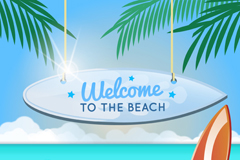 Link toSummer beach vacation poster vector graphics