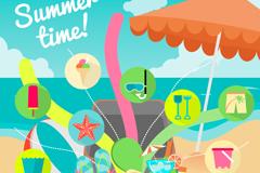 Link toSummer beach vacation vector illustration