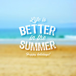 Link toSummer blur beach background vector