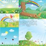Link toSummer cartoons vector