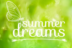 Link toSummer dream butterfly background vector
