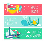Link toSummer elements banner vector