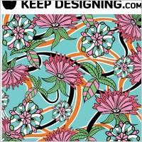 Link toSummer floral wallpaper vector- free