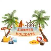Link toSummer holiday advertising banner vector free