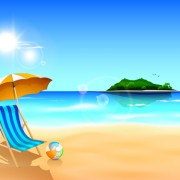 Link toSummer holiday beach creative background vecor 01 free