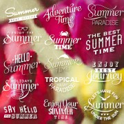 Link toSummer holiday logos with labels vector 01 free